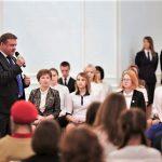 Встреча губернатора Рязанской области Н.В.Любимова с активистами Российского движения школьников