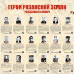 Плакат Герои рязанской земли рожденные в январе